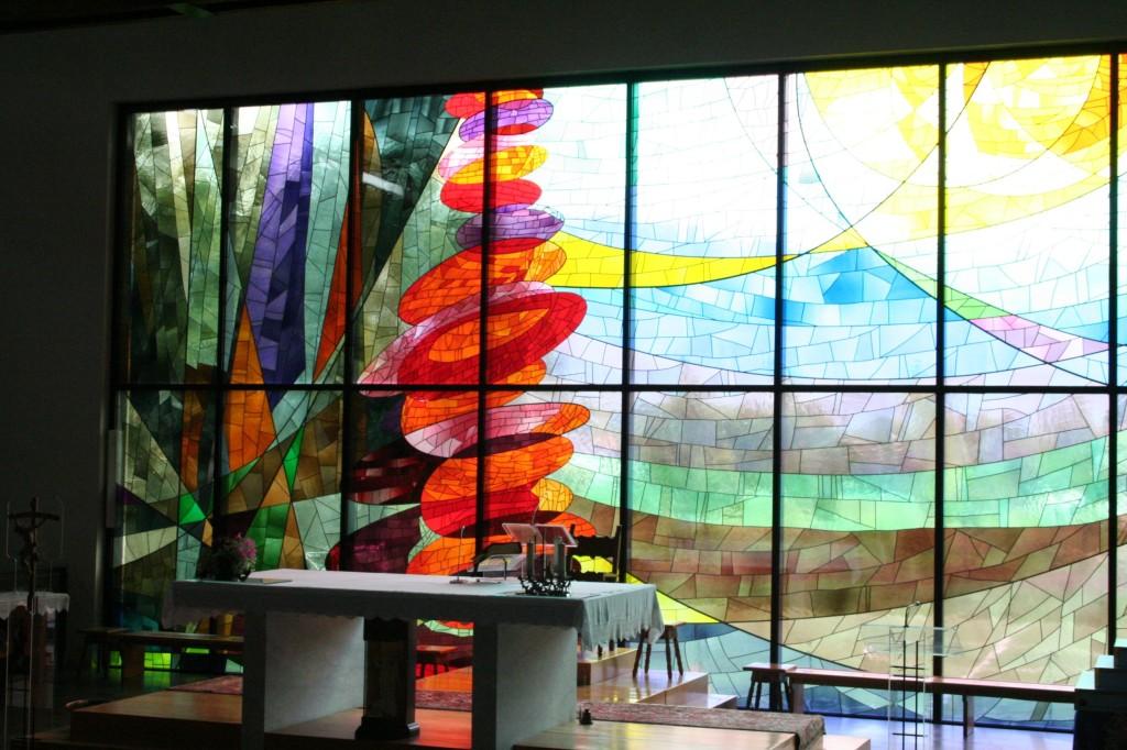 la vetrata della chiesa di S. Michele